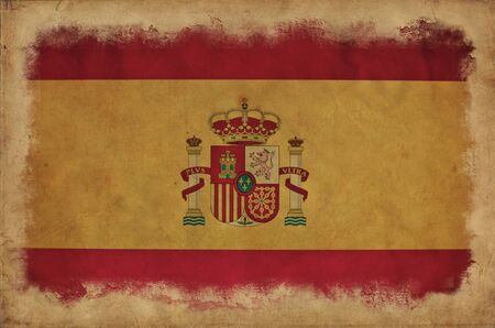 Spain grunge flag photo