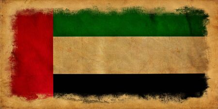 United Arab Emirates grunge flag photo