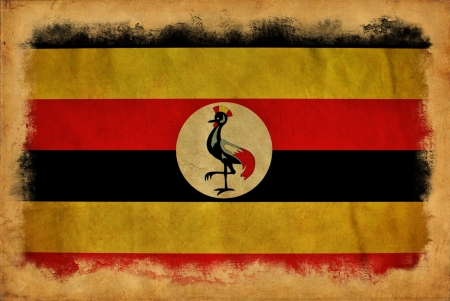 Uganda grunge flag photo