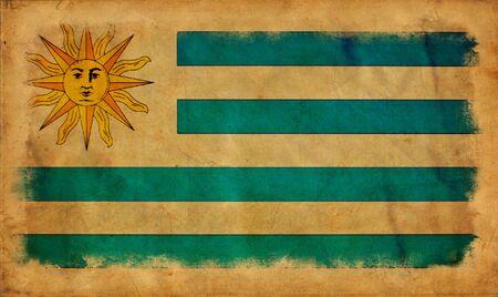Uruguay grunge flag photo