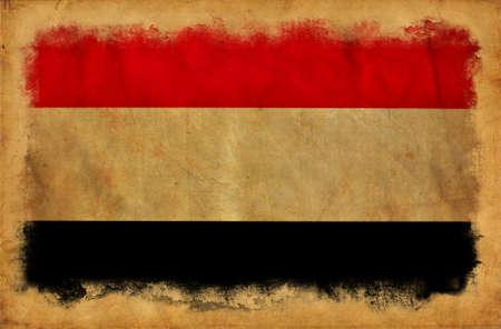Yemen grunge flag photo