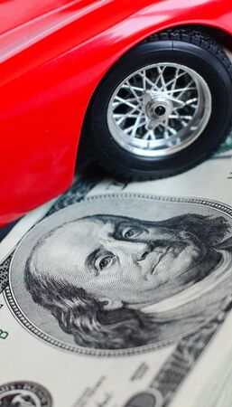 Car and money  photo