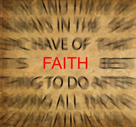 fede: Blured testo su carta d'epoca con particolare attenzione alla FEDE