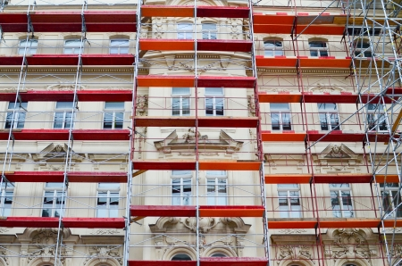 renovate old building facade: Building renovation
