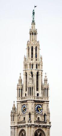 rathaus: City Hall of Vienna (Rathaus) Austria Stock Photo