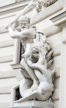Hercules and Cerberus - Hofburg Vienna Austria photo