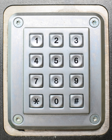 Metal button phone keypad background photo