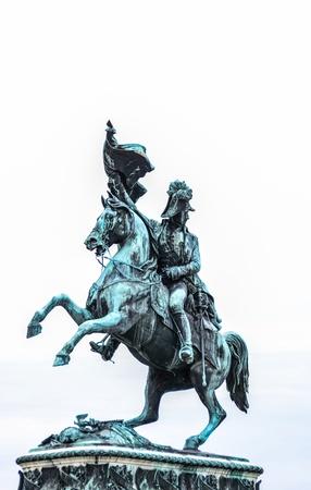 archduke: Satue of archduke Charles of Austria at the Heldenplatz in Vienna Austria  Stock Photo