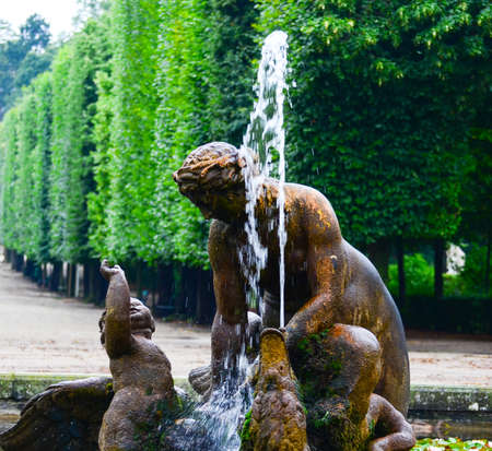 Schonbrunn palace park in Vienna Austria - Fountain detail photo