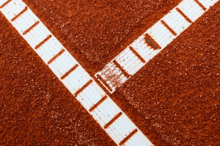 Clay tennis court with lines abstract view photo