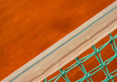 Tennis net closeup photo