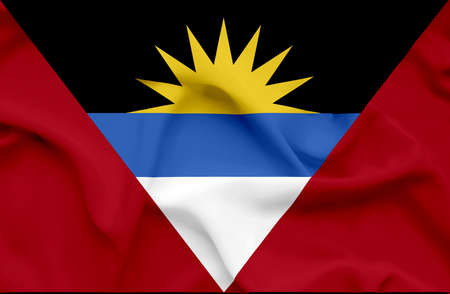 barbuda: Antigua and Barbuda waving flag