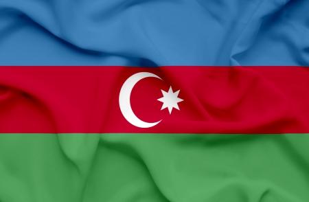 Azerbaijan waving flag photo