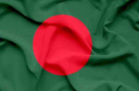 Bangladesh waving flag photo