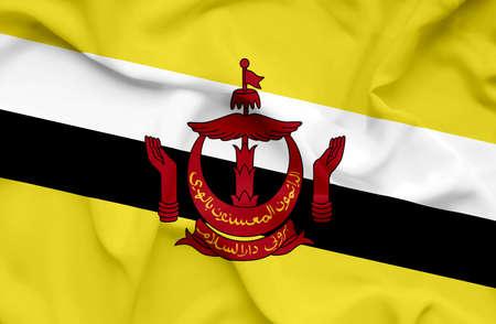 brunei: Brunei waving flag