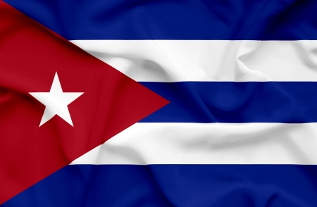 Cuba waving flag photo
