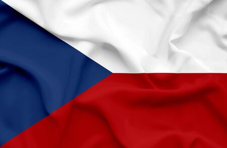 Czech Republic waving flag photo