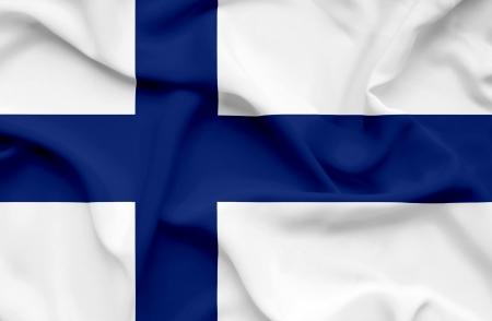 Finland waving flag