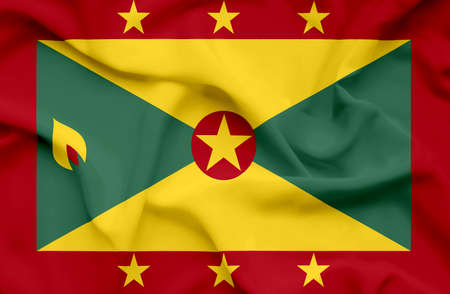Grenada waving flag photo