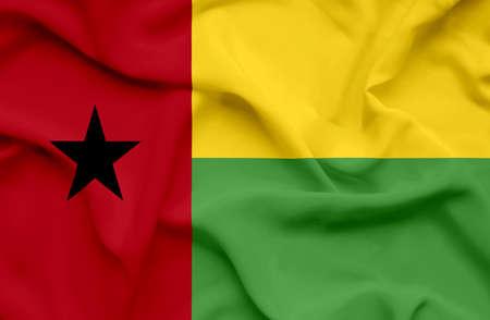 guinea bissau: Guinea Bissau waving flag