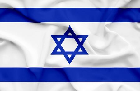 israel flag: Israel waving flag Stock Photo