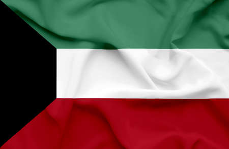 kuwait: Kuwait waving flag
