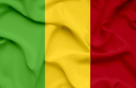 Mali waving flag photo