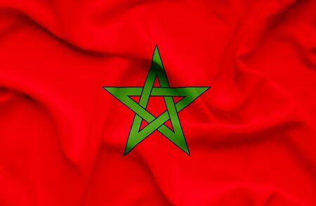 marocco: Marocco waving flag