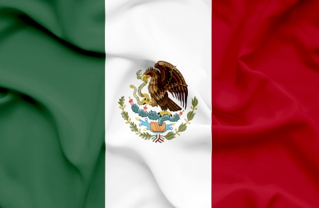 Mexico waving flag Stock Photo - 14761729