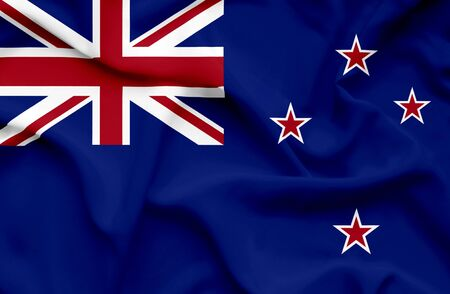 new zealand: New Zealand waving flag