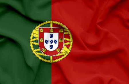 Portugal waving flag Stock Photo - 14761841