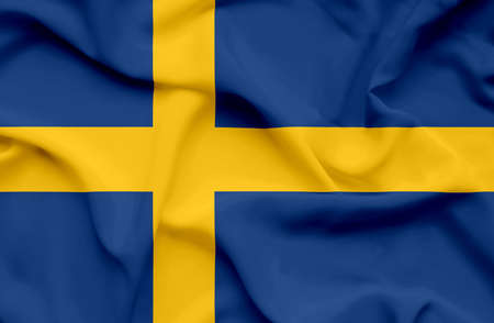 Sweden waving flag photo