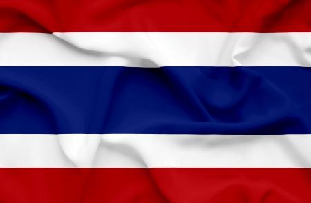 Thailand waving flag photo