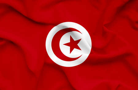 Tunisia waving flag photo