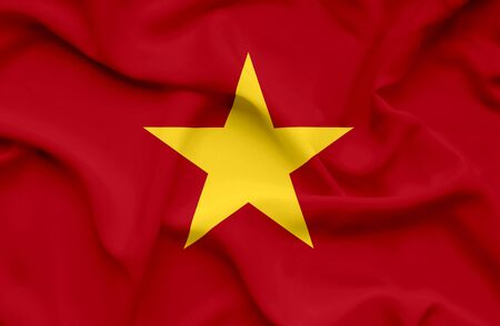 Vietnam waving flag Stock Photo - 14760975