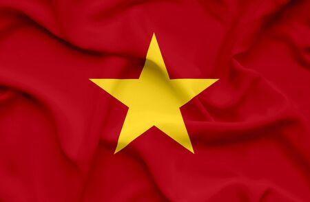 Vietnam waving flag Stock Photo - 14760975
