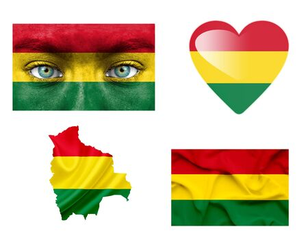 mapa de bolivia: Conjunto de diversas banderas de Bolivia