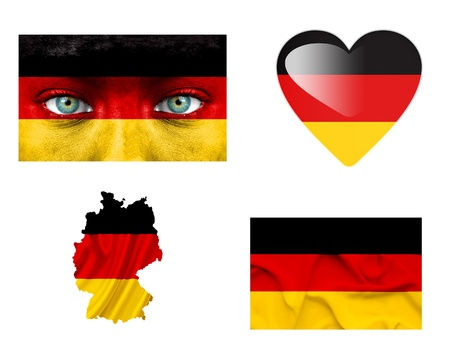 Set of various Germany flags photo