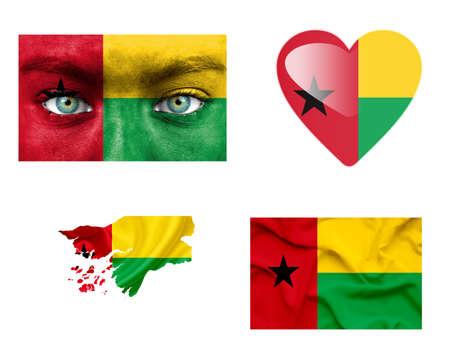 guinea bissau: Set of various Guinea Bissau flags
