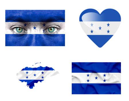 Set of various Honduras flags photo
