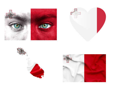 malta flag: Set of various Malta flags