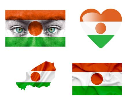 niger: Set of various Niger flags