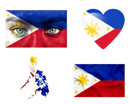 Set of various Philippines flags photo