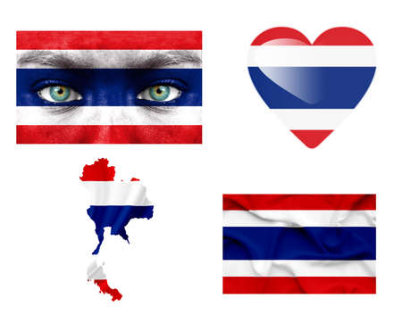 Set of various various Thailand flags Stock Photo - 14826588