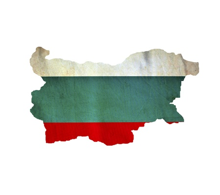 Map of Bulgaria isolated photo