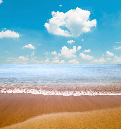 Tropical sea and beach photo