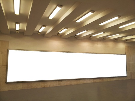 Empty billboard in city subway station Stock Photo - 15320241