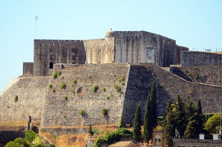 kerkyra: Kerkyra town fortress- Capital of Corfu isalnd Greece