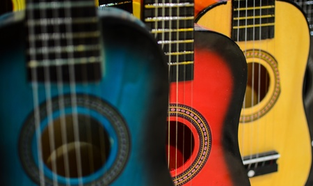 strat: Guitars background Stock Photo