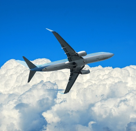 Airplane and sky Stock Photo - 15686483